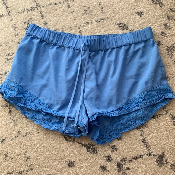 aerie Other - Aerie Lace Blue Sleep Shorts